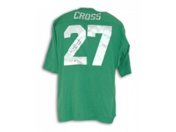 "Irv Cross Philadelphia Eagles Autographed Green Throwback Jersey Inscribed ""2X Pro Bowl"""