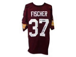 "Pat Fischer Washington Redskins Autographed Red Jersey Inscribed ""70 Greatest"""