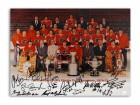 "Philadelphia Flyers 11x14 Photo Autographed by 14 players: Bobby Clarke, Bernie Parent, Bob 'Hound' Kelly, Larry Goodenough, Ross Lonsberry, Rick MacLeish, Jimmy Watson, Dave Schultz, Joe Watson, Andre ""Moose"" Dupont, Orest Kindrachuk,"