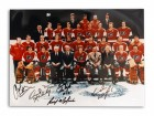 Philadelphia Flyers 11x14 Photo Autographed by Bob 'Hound' Kelly, Orest Kindrachuk, Don Saleski, Rick MacLeish, Gary Dornhoefer & Andre Dupont -Team Photo with 6 Autographs-
