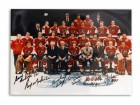 Philadelphia Flyers 11x14 Photo Autographed by Gary Dornhoefer, Rick MacLeish, Andre Dupont, Don Saleski, Jimmy Watson & Joe Watson -Team Photo with 6 Autographs-