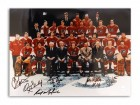 Philadelphia Flyers 11x14 Photo Autographed by Bob 'Hound' Kelly, Orest Kindrachuk, Rick MacLeish, Gary Dornhoefer, Jimmy Watson & Joe Watson -Team Photo with 6 Autographs-
