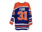 Grant Fuhr Edmonton Oilers Autographed Blue Mitchell & Ness Jersey