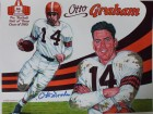 Otto Graham Cleveland Browns Autographed 11x14 Lithograph
