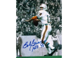 "Autographed Bob Griese Miami Dolphins 8x10 Photo inscribed ""HOF 90"""