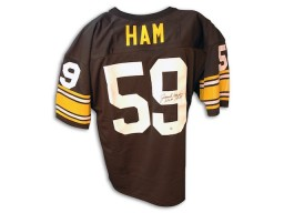Autographed Jack Ham Pittsburgh Steelers Throwback black Jersey with HOF 88