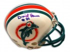 Autographed Duriel Harris Miami Dolphins Throwback Mini Helmet
