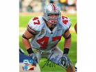 AJ Hawk Ohio State Buckeyes Autographed 8x10 Photo -Ready for Action-