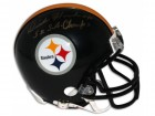 "Dick Hoak Pittsburgh Steelers Autographed Mini Helmet Inscribed ""5X SB Champs"""