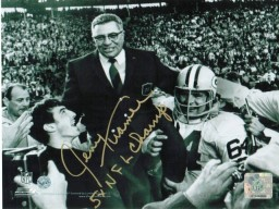 "Jerry Kramer Green Bay Packers Autographed 8x10 Photo Inscribed ""5X NFL Champ"""