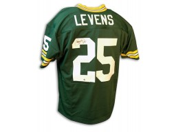 Autographed Dorsey Levens Packers Throwback Green Jersey