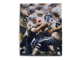 "Autographed Bob Lilly Dallas Cowboys 16x20 Photo Inscribed ""HOF 80"""