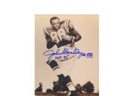 "Autographed John Mackey Baltimore Colts 8x10 Photo Inscribed ""HOF 92"""