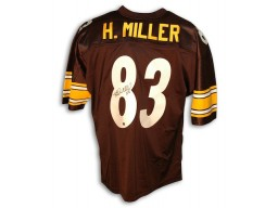 Autographed Heath Miller Pittsburgh Steelers Black Throwback Jersey