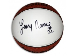 Larry Nance Autographed Spalding White Panel Mini Basketball