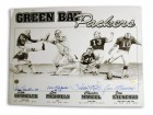 Green Bay Packers 11x14 Lithograph Autographed by Don Chandler, Lou Michaels, Chester Marcol & Jan Stenerud. There is a crease in the upper left corner as can be seen in the picture.