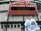 "Lou Piniella Chicago Cubs Autographed 8x10 Photo Inscribed ""08 NL MOY"" -Posing outside of Wrigley Field-"