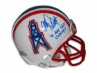 "Allen Pinkett Houston Oilers Autographed Mini Helmet Inscribed ""91 AFC Cent Champs"""