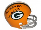 "Dave Robinson Green Bay Packers Autographed Mini Helmet Inscribed ""Super Bowl I, II"""