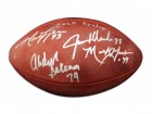 "NFL Football Autographed by All Four Members of the New York Sack Exchange Which Includes: Joe Klecko Inscribed ""Sack Exchange"", Mark Gastineau, Marty Lyons & Abdul Salaam"