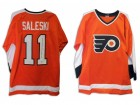 "Don Saleski Philadelphia Flyers Autographed Orange Jersey Inscribed ""2X Stanley Cup Champ"""