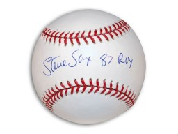 "Autographed Steve Sax MLB Baseball Inscribed ""82 Roy"""
