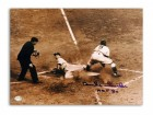 "Duke Snider Brooklyn Dodgers Autographed 11x14 Photo Inscribed ""HOF 80"" -Slide into Home-"