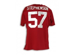 "Dwight Stephenson Alabama Crimson Tide Autographed Crimson Throwback Jersey Inscribed ""1978-79 National Champs"""