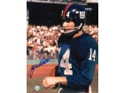 Autographed Y.A. Tittle New York Giants 8x10 Photo