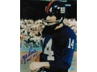 "Autographed Y.A. Tittle New York Giants 8x10 Photo Inscribed ""HOF 1971"""