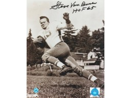 "Steve Van Buren Philadelphia Eagles Black and White 8x10 Photo Inscribed ""HOF 65"" -Pose-"