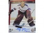 "Gilles Villemure New York Rangers Autographed 8x10 Photo Inscribed ""70-71 Vezina"""