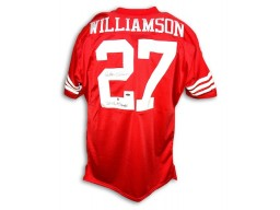 Autographed Carlton Williamson San Francisco 49ers Throwback Red Jersey
