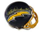Autographed Kellen Winslow San Diego Chargers Throwback Authentic Mini Helmet inscribed HOF 95