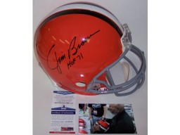Jim Brown Autographed Hand Signed Cleveland Browns Throwback Full Size Authentic Helmet - PSA/DNA