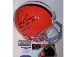 Jim Brown Autographed Hand Signed Cleveland Browns Throwback Full Size Authentic Helmet - BAS Beckett