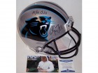 Christian McCaffrey Autographed Hand Signed Carolina Panthers Full Size Authentic Helmet - Beckett BAS