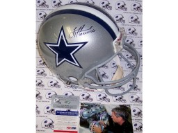 Troy Aikman Autographed Hand Signed Dallas Cowboys Authentic Helmet - PSA/DNA
