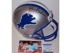 Barry Sanders Autographed Hand Signed Detroit Lions Throwback Authentic Helmet - PSA/DNA