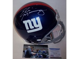 Eli Manning Autographed Hand Signed New York Giants Full Size Authentic Helmet - PSA/DNA