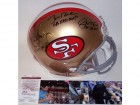 Joe Montana, Jerry Rice & Steve Young Autographed Hand Signed San Francisco 49ers Throwback Authentic Helmet - JSA