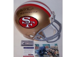 Joe Montana Autographed Hand Signed San Francisco 49ers Throwback Authentic Helmet - PSA/DNA