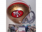 Jerry Rice & Joe Montana Autographed Hand Signed San Francisco 49ers Throwback Authentic Helmet - PSA/DNA