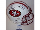 Joe Montana & Jerry Rice Autographed Hand Signed San Francisco 49ers Flat White Speed Full Size Authentic Proline Helmet - BAS Beckett Authentication
