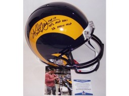 Kurt Warner Autographed Hand Signed St. Louis Rams Throwback Full Size Authentic Helmet - BAS Beckett