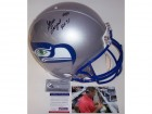 Steve Largent Autographed Hand Signed Seattle Seahawks Throwback Authentic Helmet - PSA/DNA