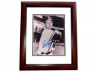 Andy Pafko Signed - Autographed Milwaukee Braves 8x10 inch Photo MAHOGANY CUSTOM FRAME - Guaranteed to pass PSA or JSA - 1957 World Series Champion