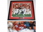 Adrian Peterson Signed - Autographed Oklahoma Sooners 16x20 inch Photo - Full Signature with Witnessed JSA Certificate of Authenticity (COA) - BLACK CUSTOM FRAME