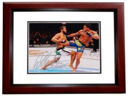 Anthony Pettis Signed - Autographed UFC Champion Fighter 8x10 inch Photo with SHOWTIME Inscription MAHOGANY CUSTOM FRAME - Guaranteed to pass PSA or JSA