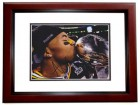 Andrew Quarless Signed - Autographed Green Bay Packers 8x10 inch Photo MAHOGANY CUSTOM FRAME - Guaranteed to pass PSA or JSA - Super Bowl XLV Champion
